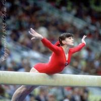 October 23, 1983; Budapest, Hungary; Artistic gymnast Natalia Yurchenko of Soviet Union performs on balance beam at 1983 World Championships in Budapest.  Copyright 1983 Tom Theobald