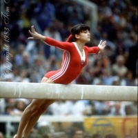 October 23, 1983; Budapest, Hungary; Artistic gymnast Natalia Yurchenko of Soviet Union performs on balance beam at 1983 World Championships in Budapest.  Copyright 1983 Tom Theobald