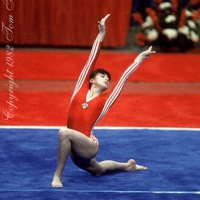 August 15, 1982; Fort Worth, Texas, USA; Natalia Yurchenko of Soviet Union performs on floor exercise at USGF International at Fort Worth, Texas, USA in July, 1982.  Copyright 1983 Tom Theobald