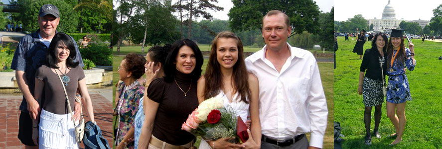 Natalia and her family