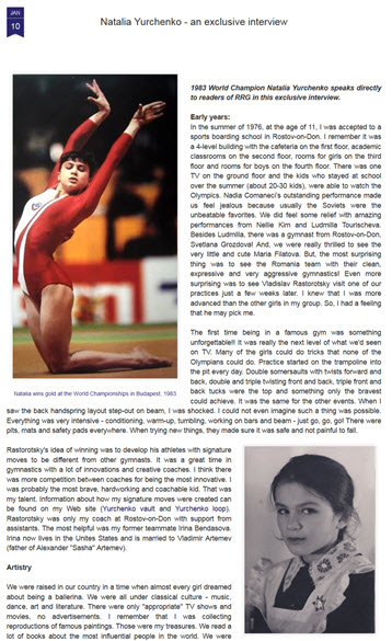 Natalia Yurchenko - an exclusive interview